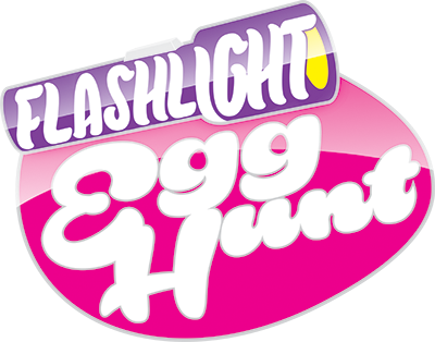 Flashlight Egg Hunt logo with shine
