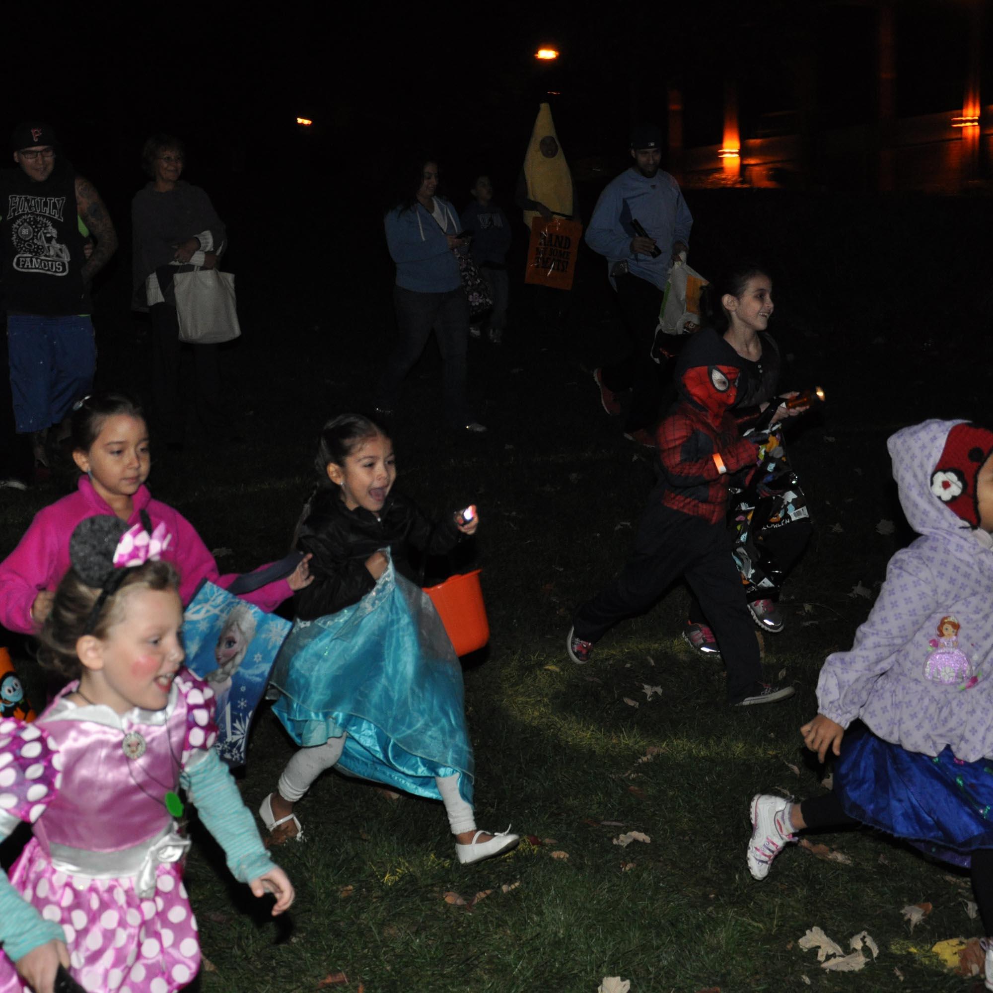Flashlight Halloween Egg Hunt