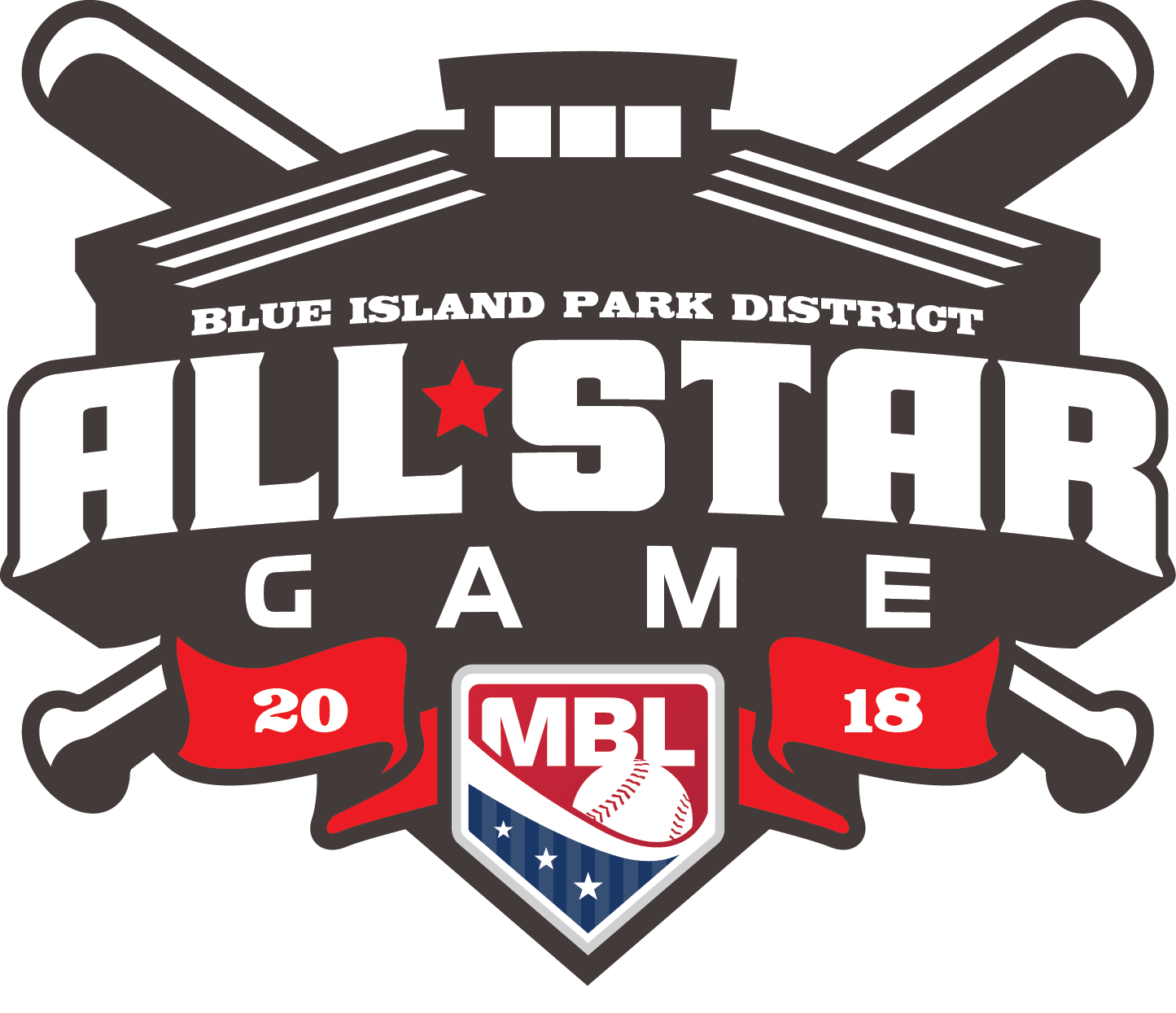 Men's Baseball League All Star Logo
